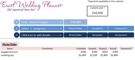 wedding planner excel wedding planner excel workbook wedding planner