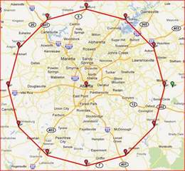 Map Of Atlanta by Similiar Metro Atlanta Road Map Keywords