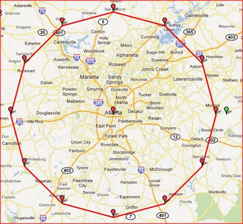 atlanta georgia surrounding area map pin atlanta metro area zip code map on pinterest
