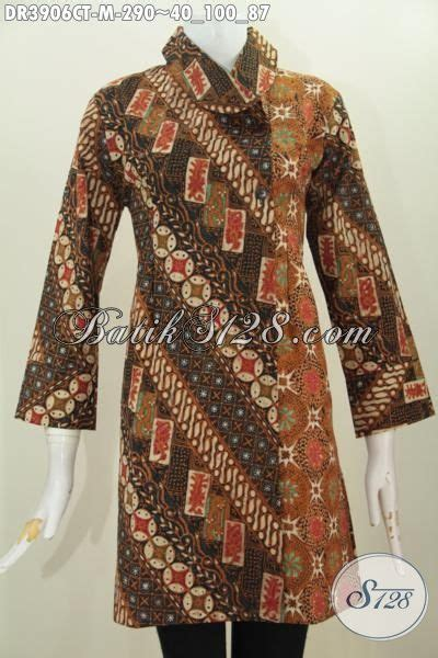 Dress Baju Tenun Wanita Blanket Batik Etnik baju batik dress kombinsi dua motif dengan model kerah miring trend pakaian wanita masa kini