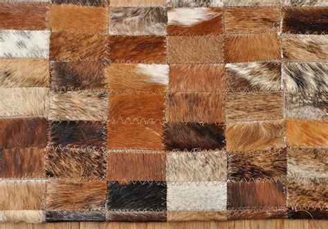 kuhfell teppich rund kuhfell teppich braun 185 x 140 cm patchwork