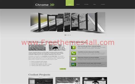 free website templates html css jquery free 3d gray jquery grunge css website template
