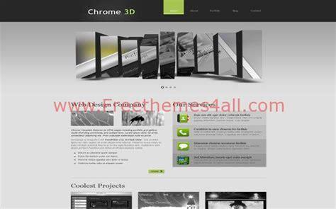 free 3d website templates free 3d gray jquery grunge css website template