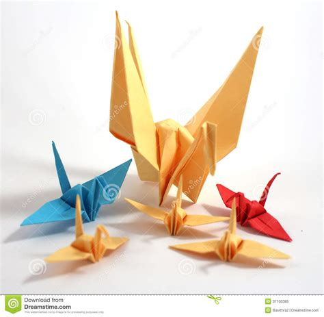 Japanese Origami Swan - origami swan royalty free stock photo image 37100385