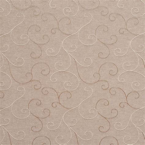 c136 beige swirl trellis linen look upholstery fabric by
