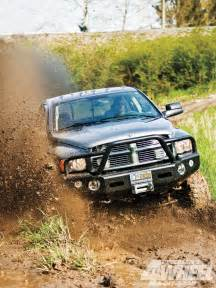 1105 500 hp dodge ram mud truck front through mud