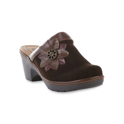 wide width clogs for thom mcan s carine brown suede open back clog wide