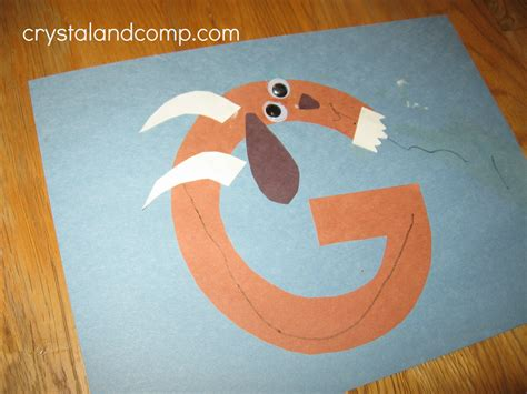 goat craft for letter fo the week preschool craft g is for goat
