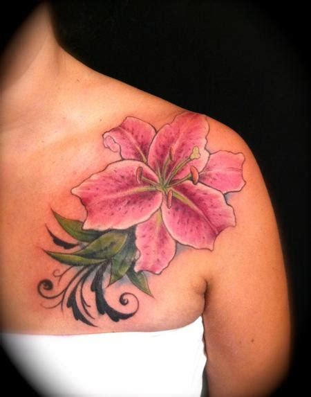 lily shoulder tattoo designs design ideas and pictures page 2 tattdiz