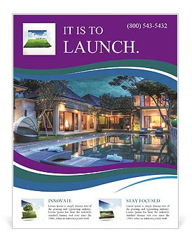 brochure template resort luxury resort flyer template design id 0000004937