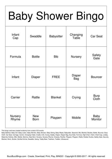 Bingo Baby Shower Cards by Baby Shower Bingo Cards Driverlayer Search Engine