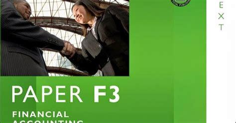 Acca F3 Financial Accounting Int Fia Ffa Bpp Study Text