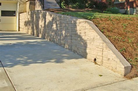decorative concrete walls decorative concrete retaining wall