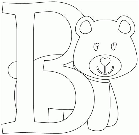 b bear coloring page b is for bear coloring page coloring com
