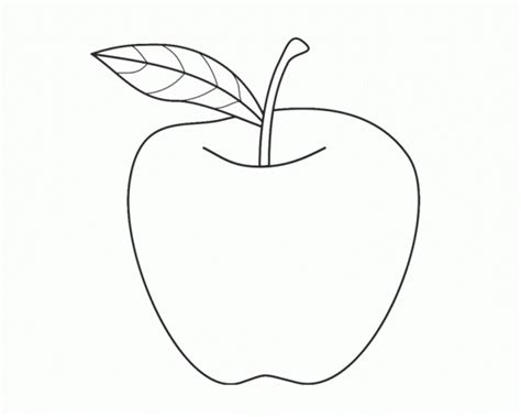 Coloring Pages An Apple
