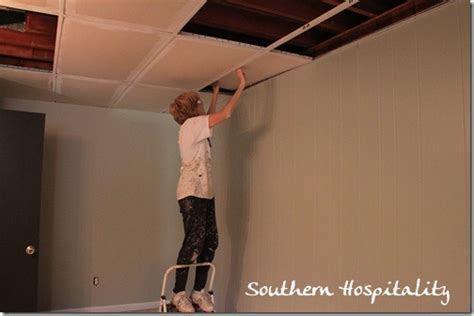 Painting A Drop Ceiling by Replacing Drop Ceiling Tiles