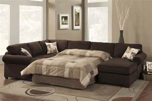 Living Room With Sofa Bed White Canvas Fabric Sectional Sleeper Sofa With Bed Small And Brown Bed Linen Also Floral