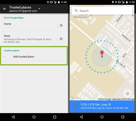 how to location on android how to add a trusted place in android 5 0 lollipop android central