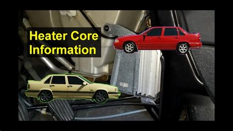 coolant leak  heater core connection seal volvo auto information series youtube
