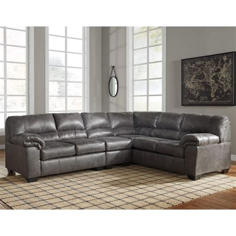 Furniture Signature Design Sectional by Signature Design By Bladen 3 Faux Leather