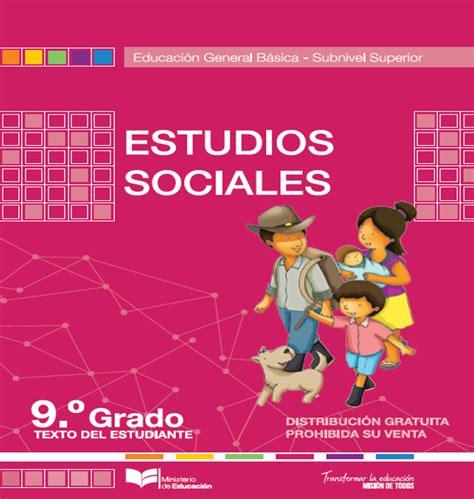 libro ciencias sociales 2016 noveno de b 193 sica septiembre 2016