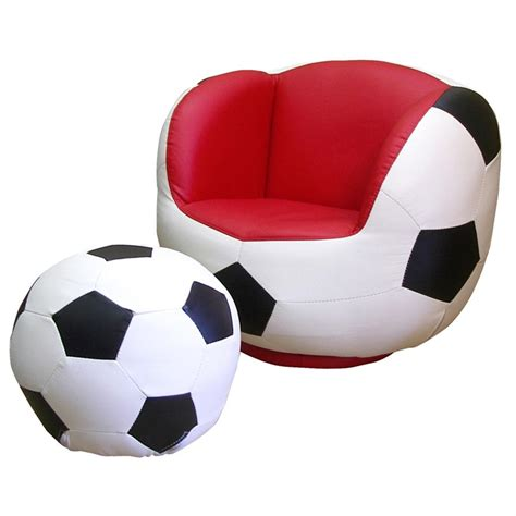 Polaris 174 Soccer Chair And Ottoman Set 163714 Kid S