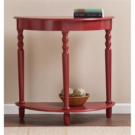 red accent tables southern enterprises tyra demilune accent table in red