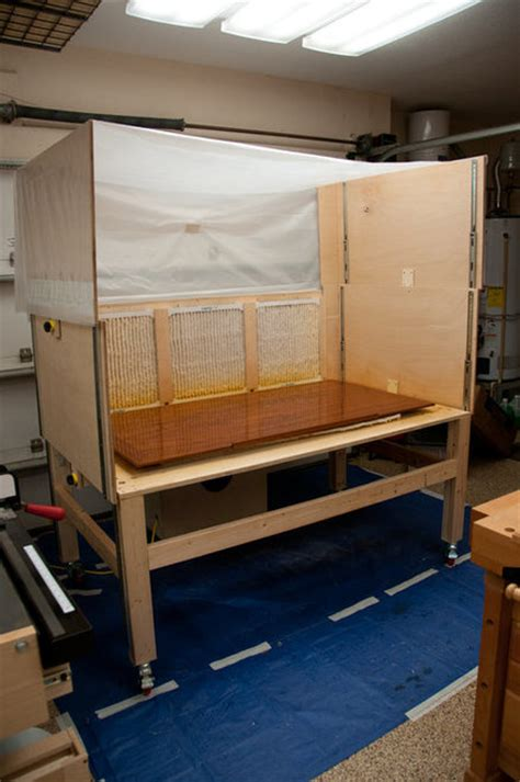 woodworking spray booth combination assembly table and retractable explosion proof