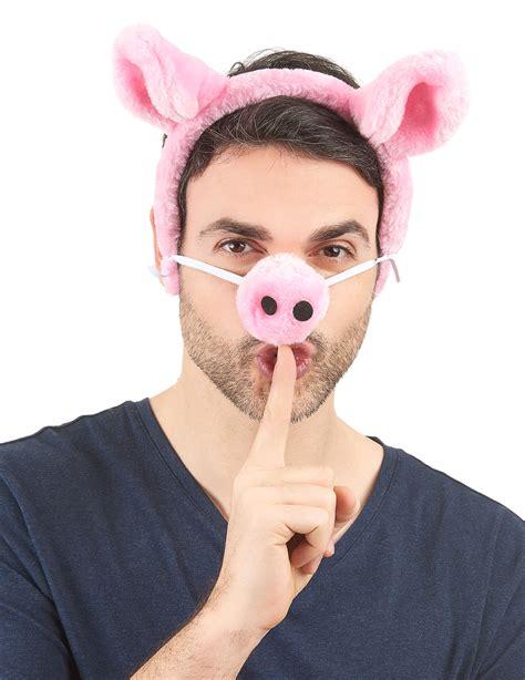 Como Aser Naris Y Orejas De Chancho De Goma Eba | diadema y nariz de cerdo para adulto accesorios y