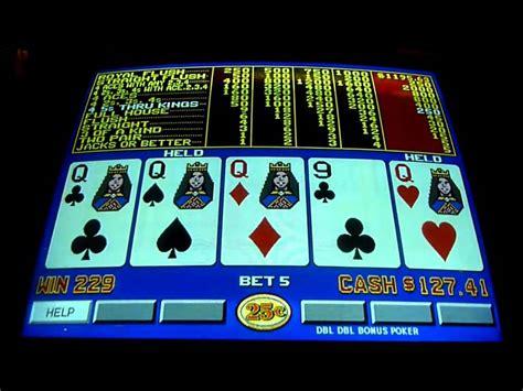 double double bonus poker video poker slot machine win queenslots youtube