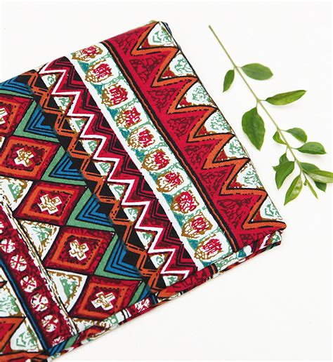 50 cm lot ethnic fabric for sewing cotton and linen 28