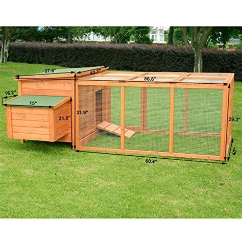 pawhut deluxe wooden chicken coop with backyard outdoor