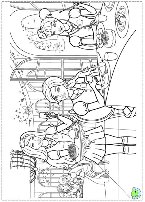 barbie school coloring page barbie princess charm school coloring page dinokids org