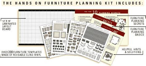 interior design layout kit furniture arranging kits and templates furniturebrains