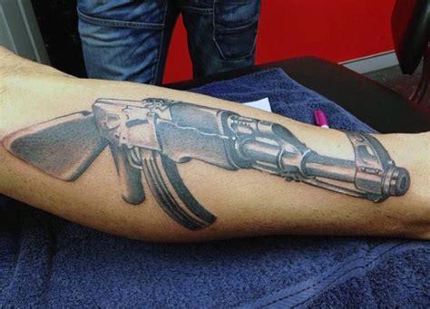 ak47 tattoo on finger 40 ak 47 tattoo designs for men an arsenal of ideas