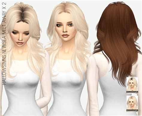 pretty sims cc hairstyles sims 4 hairs miss paraply newsea a melt away hair