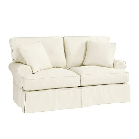 slipcovered loveseat davenport loveseat slipcover special order fabrics