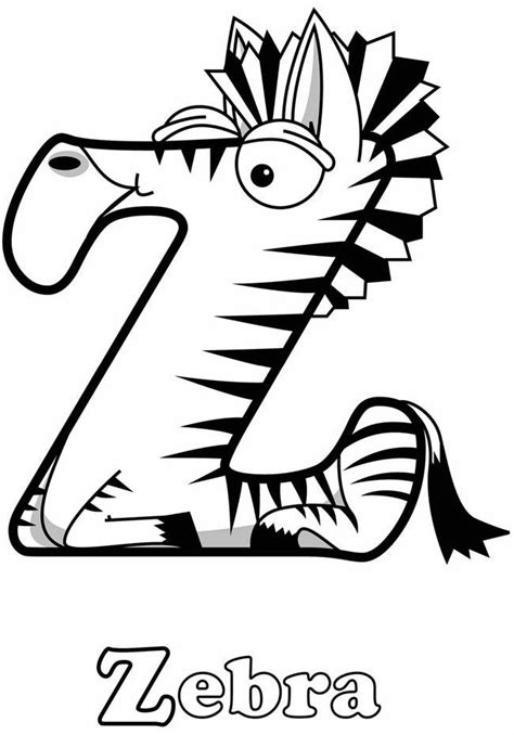 Zebra Z Coloring Page | zebra coloring sheets coloring home