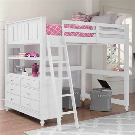 girls loft bed with desk image gallery loft beds for girls