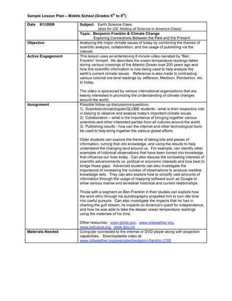 Middle School Lesson Plan Template 7 Free Word Excel Pdf Lesson Plan Template 10 Free Word Pdf Middle School Business Plan Template