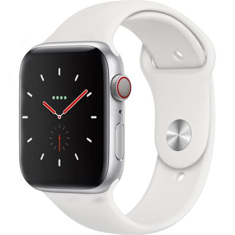 Apple Series 4 Uk by Apple Series 4 Gps Cellular 44mm Silver Aluminium With White Sport Band