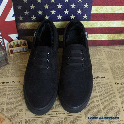 Model Snow Hollow Velvet cheap new all black canvas models without shoelace plus