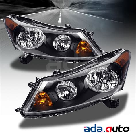 2011 honda accord headlights 2008 2012 honda accord 4dr sedan black headlights