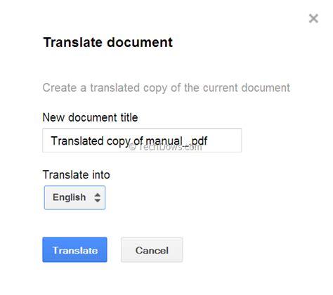Translate Pdf Document
