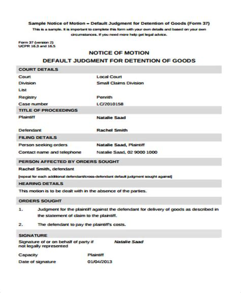 detention notice template detention notice templates 6 free word pdf format