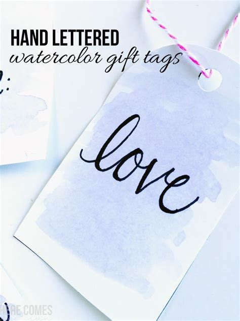 Easy Watercolor Gift Tags Tutorial Perfect For A Beginner | easy watercolor gift tags tutorial perfect for a beginner