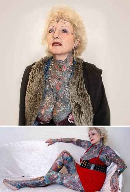 full body tattoo old woman 13 most awesome old people with tattoos old people with