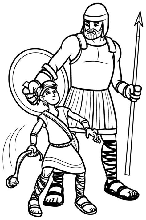 david and goliath coloring pages printables david and goliath coloring pages printables sketch