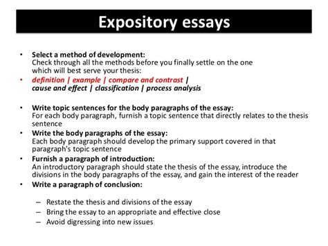 Expository Essay Thesis Statement Exles by Expository Essays