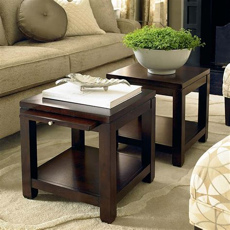 two small tables instead of coffee table really cool idea two small tables instead of one coffee